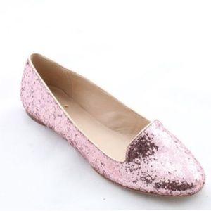 Kate Spade Trick Pink Glitter Flats